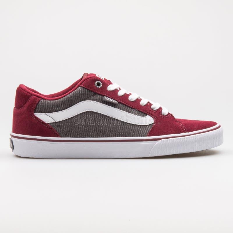 Vans Faulkner Red, Grey And White
