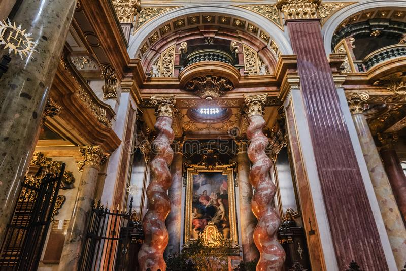 Interior of Jesuit Church aka University church royalty free stock images