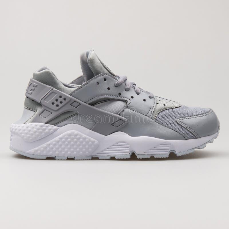 Nike Air Huarache Run Ultra Blue And White Sneaker Editorial Stock ...