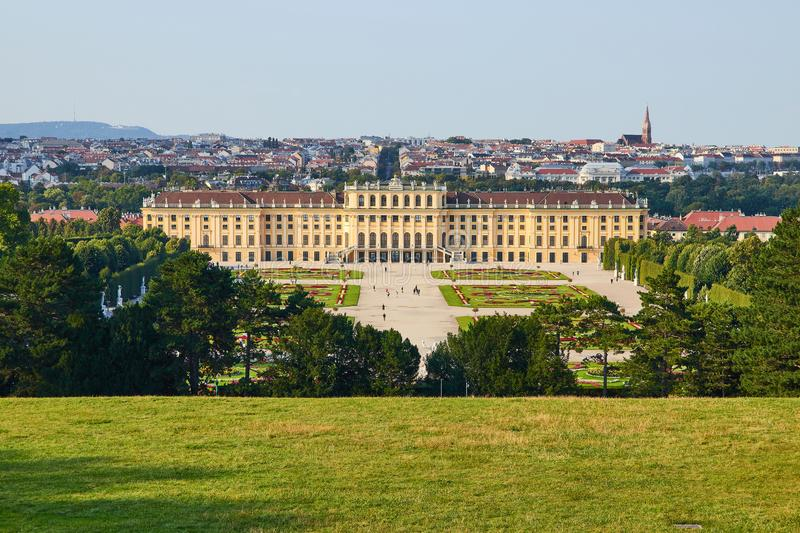 Vienna - The Schonbrunn palace and gardens stock images