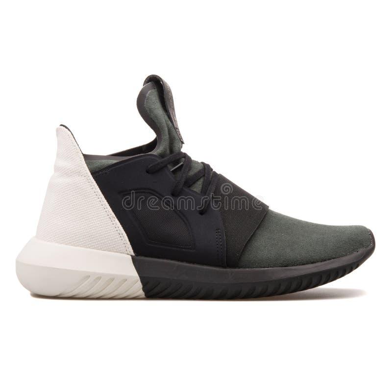 Terminal novela clímax  Adidas Tubular Defiant Black, Olive Green And White Women`s Sneaker  Isolated On White Background Editorial Stock Image - Image of lifestyle,  colour: 131389304