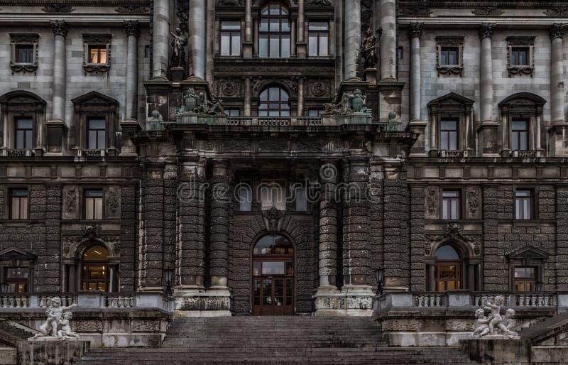 VIENNA, AUSTRIA - OCTOBER 06, 2016: Entrance of Neue Burg, Kunsthistorisches Museum Wien. Museum of Art History in Vienna, Austria royalty free stock photos