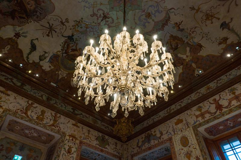 VIENNA, AUSTRIA - October 2019: Interior from Belvedere palace in Vienna. The construction of the Upper Belvedere began stock photography