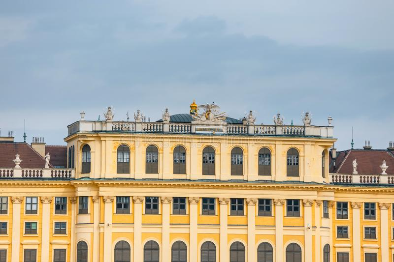 Schonbrunn - Baroque Palace located in Vienna, Austria stock images
