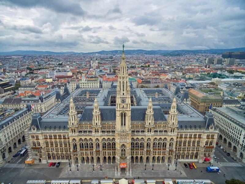 VIENNA, AUSTRIA - 10 OTTOBRE 2016: Rathaus a Vienna, Austria fotografie stock