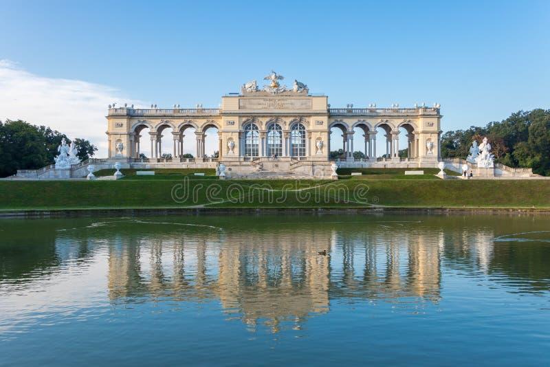 Schönbrunn Palace Garden Gloriette - Vienna, Austria. Vienna, Austria - September 3, 2019: Schönbrunn Palace Garden Gloriette - Vienna, Austria stock images