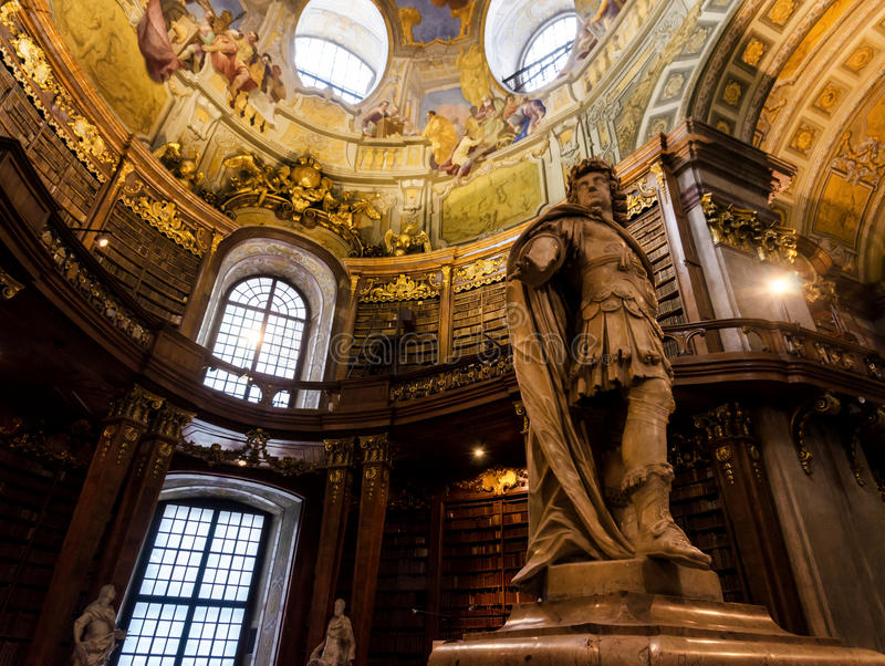 Vienna, Austrian National Library stock photography