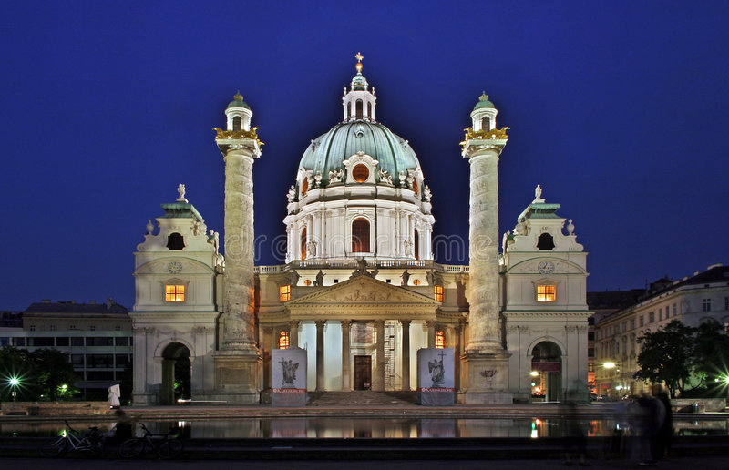 Vienna Carlschurch royalty free stock photography