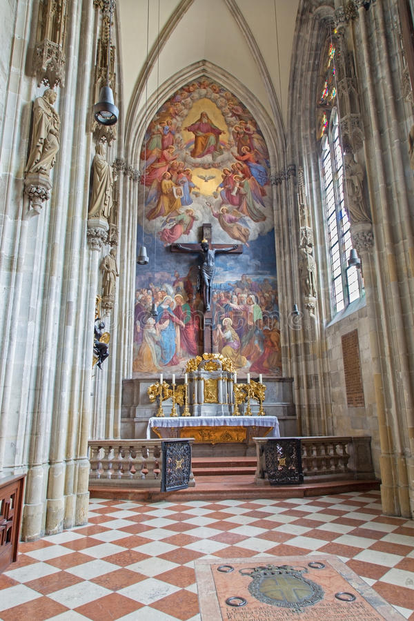 Vienna - Chapel of the cross in St. Stephens cathedral. royalty free stock photography