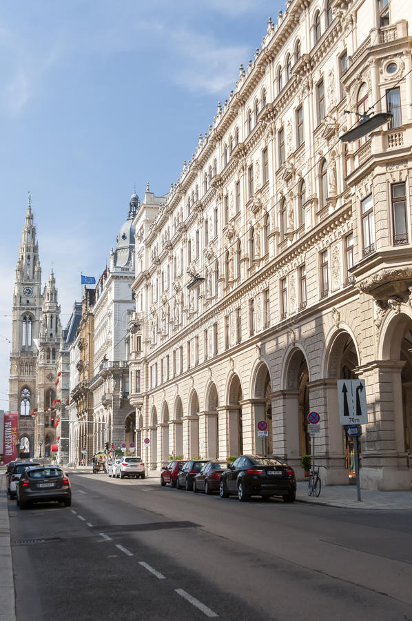 Vienna City Hall lateral view royalty free stock images