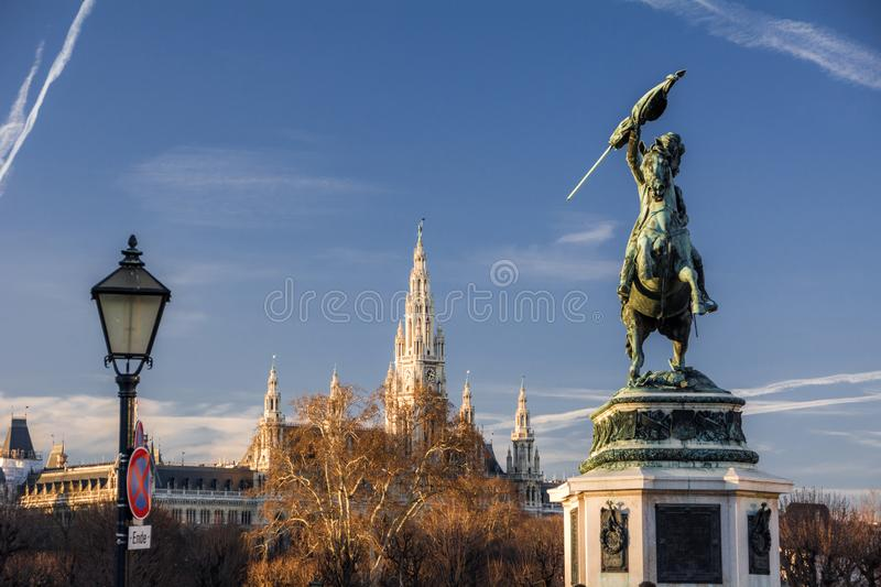 Vienna City Hall. Neo-gothic building royalty free stock image