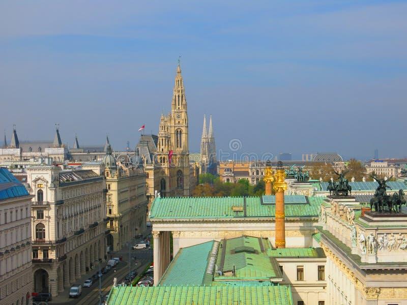 Vienna city skyline stock photo