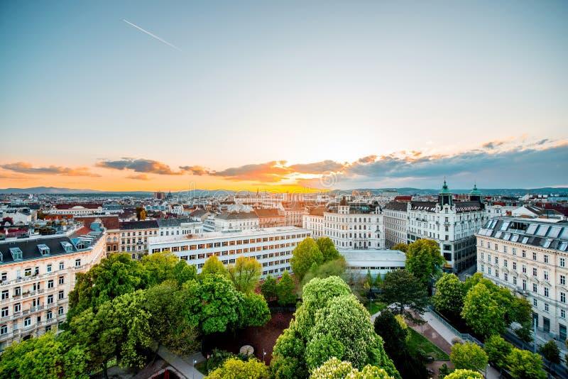 Vienna cityscape in Austria stock photos
