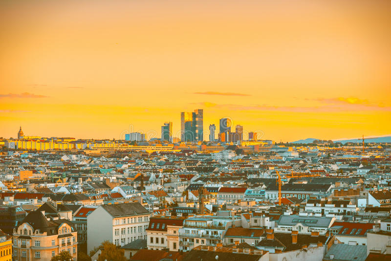 Vienna cityscape in Austria stock photos