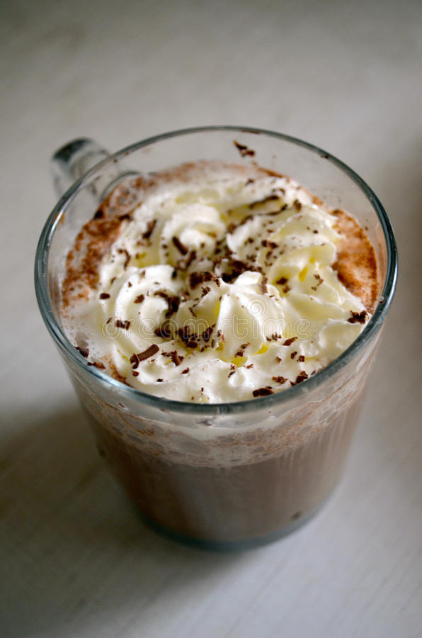 Vienna coffee topped with whip cream