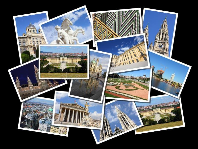 Vienna collage stock photos