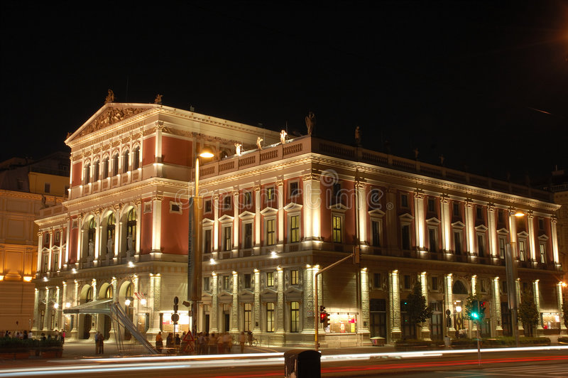 Vienna Concert Hall at Night royalty free stock image