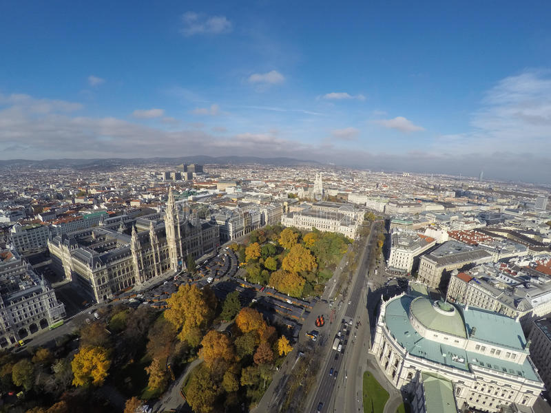 Vienna da sopra fotografie stock libere da diritti
