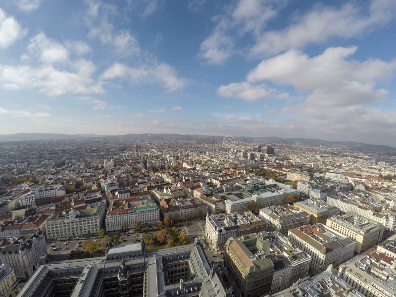 Vienna da sopra fotografia stock libera da diritti