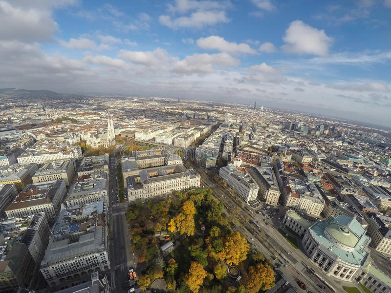 Vienna da sopra immagine stock libera da diritti
