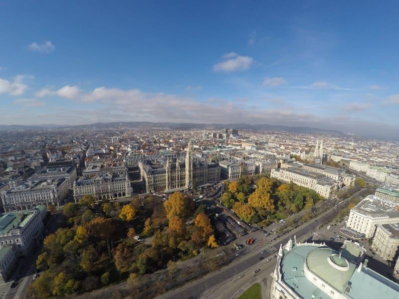 Vienna da sopra fotografia stock