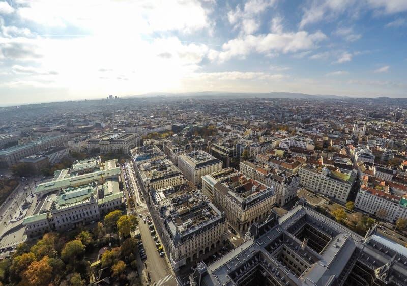 Vienna da sopra fotografie stock