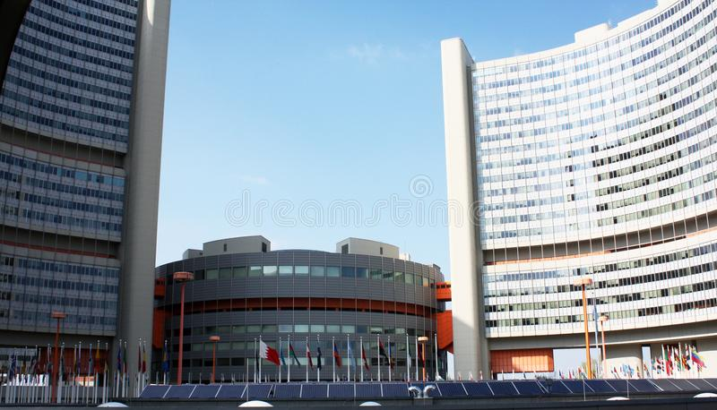 The Vienna International Centre VIC or `UNO City`. royalty free stock images