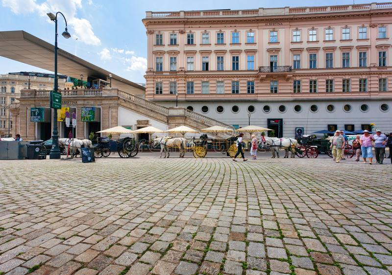 vienna kwadrat Kapitał Austria fotografia stock