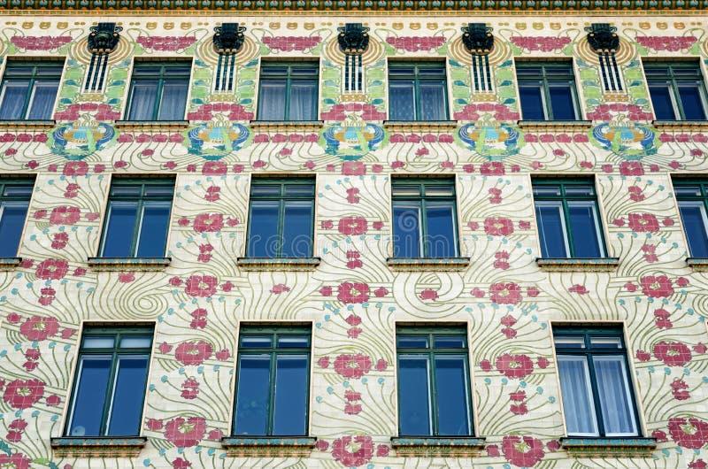 Vienna, Majolica Hause stock image