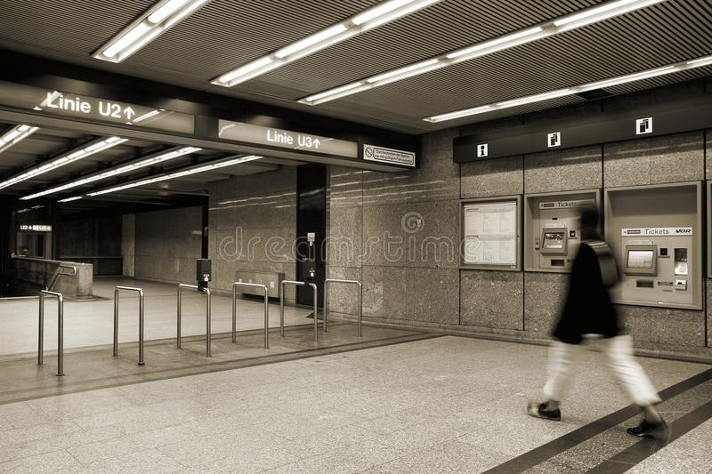 Vienna metro royalty free stock photos