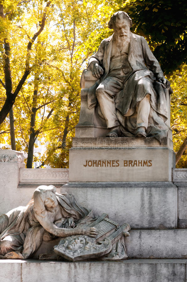 Vienna, monument of Johannes Brahms royalty free stock photography