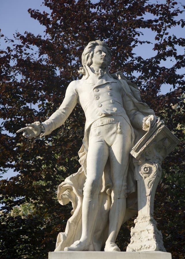 Vienna - Mozart landmark royalty free stock image