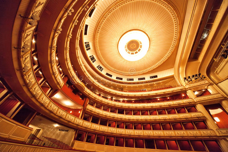 Vienna Opera interior royalty free stock photo
