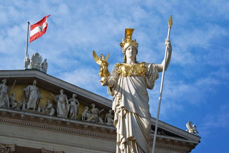Vienna Pallas Athene parliament architecture stock photos