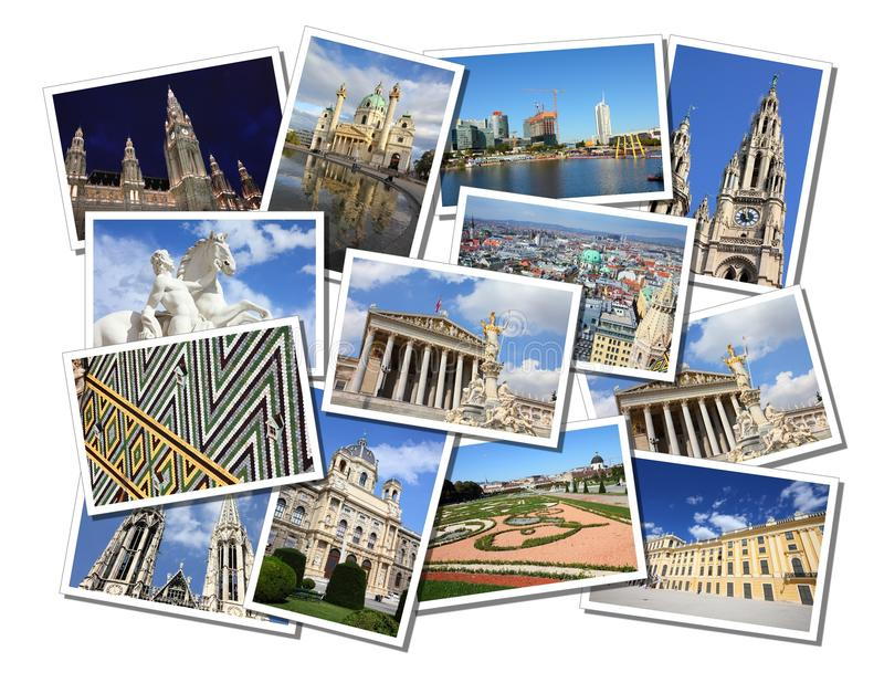 Vienna postcards stock photo
