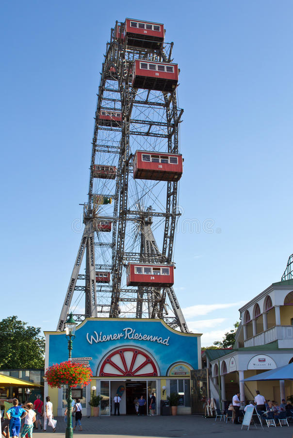 Vienna, Prater, ruota gigante fotografia stock