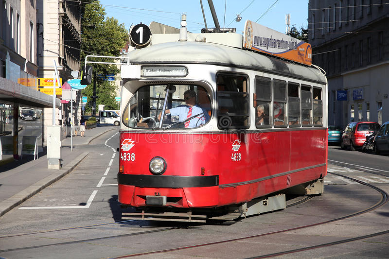 Vienna public transport royalty free stock image