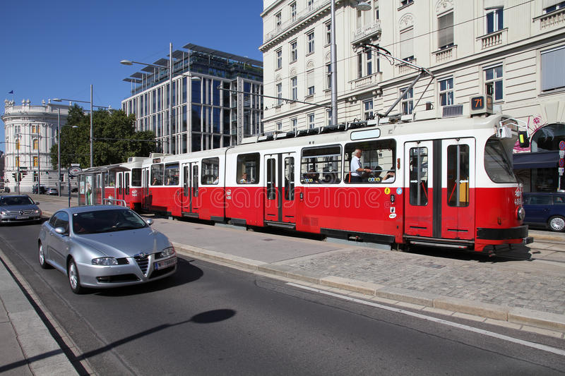 Vienna public transportation stock images