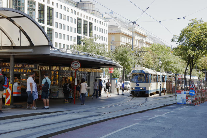 The Vienna Ring Tram in Vienna, Austria. royalty free stock images
