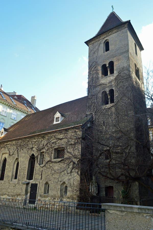 Vienna`s oldest church st rupert`s stock images