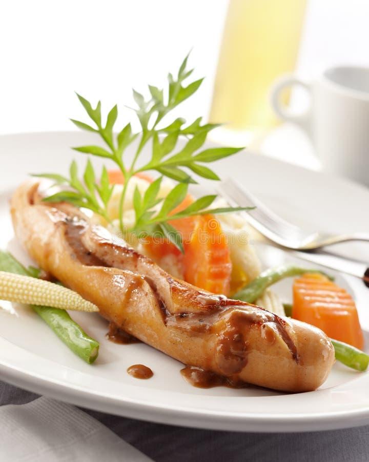 Vienna sausage royalty free stock images