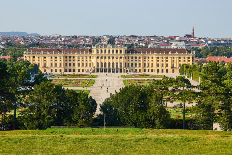 Vienna - The Schonbrunn palace and gardens stock photo