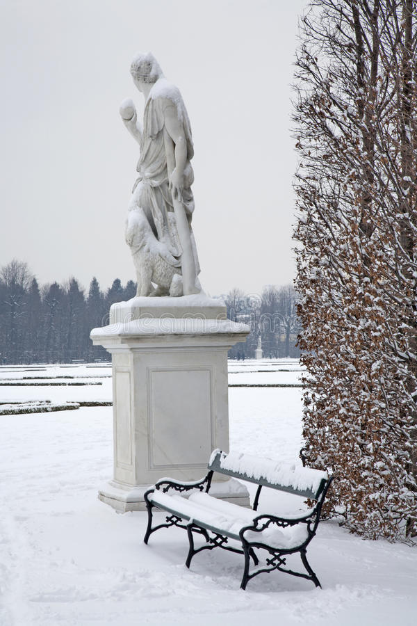 Vienna - Schonbrunn Palace And Statues Of Mythology Royalty Free Stock Photo