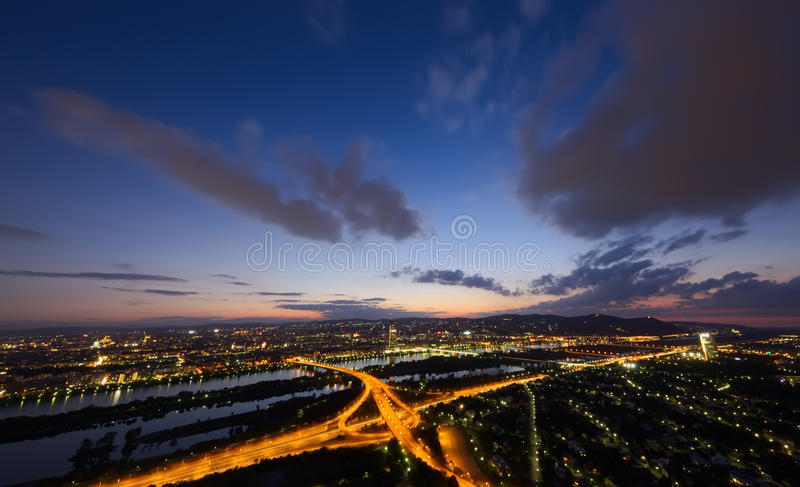 Download Sunset in Vienna stock image. Image of road, capital - 29707053