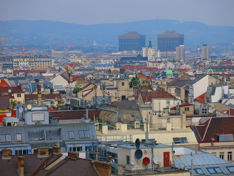 Download Vienna Skyline And Vienna General Hospital Stock Image - Image of building, landscape: 39625315