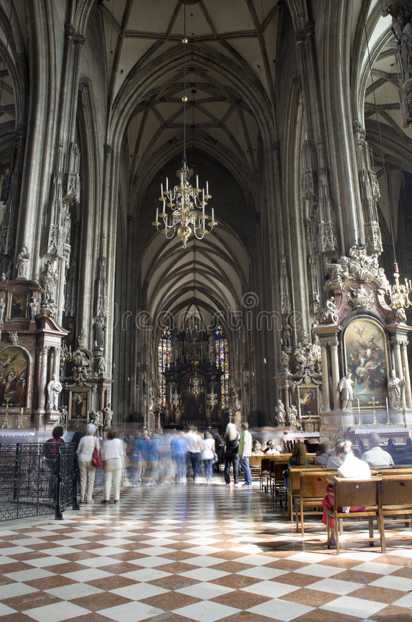 Download Vienna - St.Stephens Cathedral - Interior Stock Image - Image: 9341795