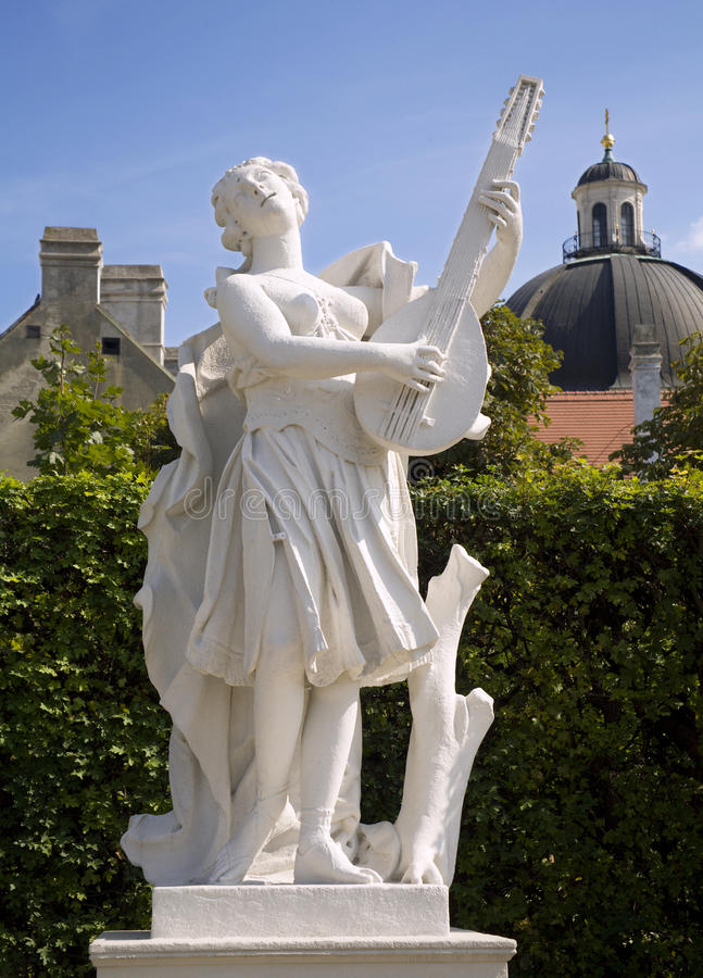 Download Vienna - Statue Of Muse In Belvedera Palace Stock Photo - Image of music, guitar: 11050642