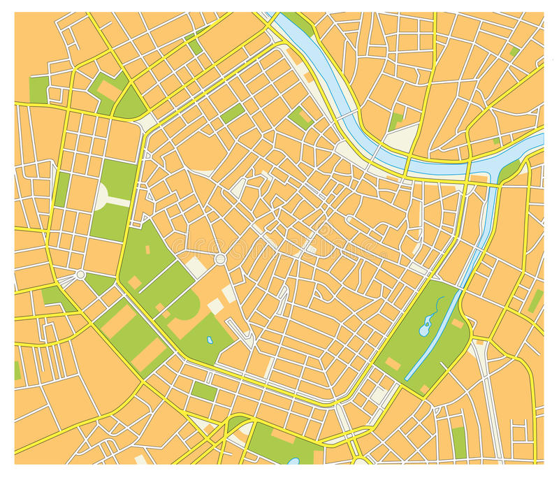 Vienna street map stock illustration Illustration of locality