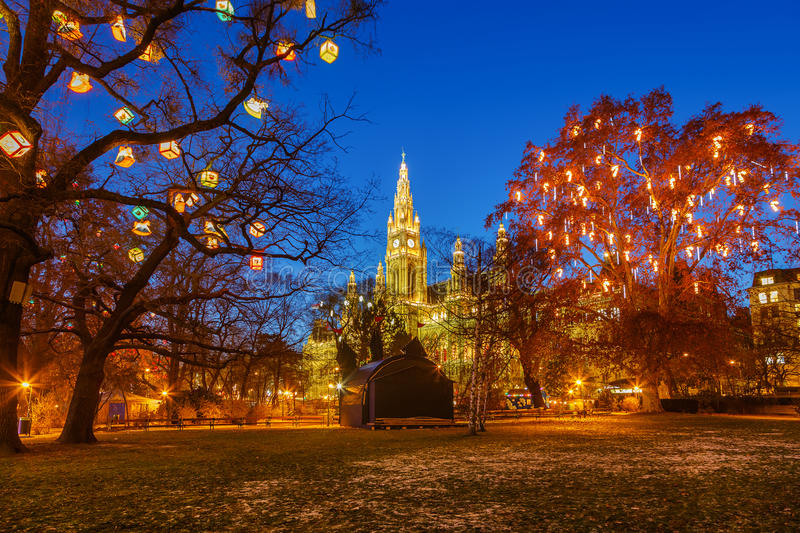 Download Vienna town hall and park stock photo. Image of hall - 35689420