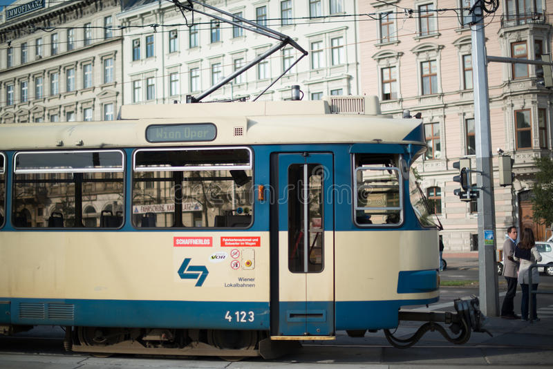 Download Vienna Tram editorial photo. Image of town, cable, downtown - 27637791